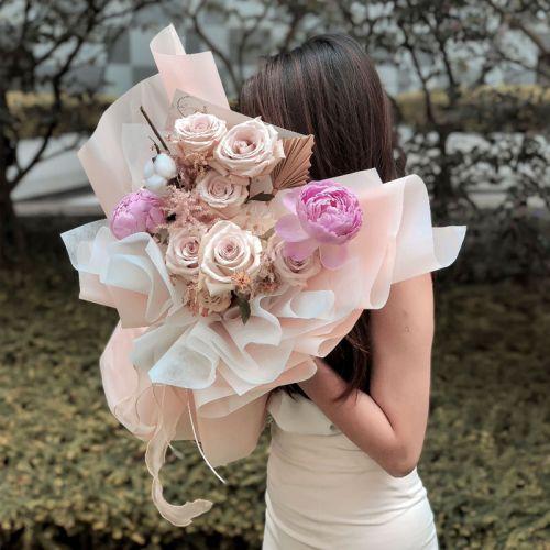 Pastel Pink Flower Bouquet