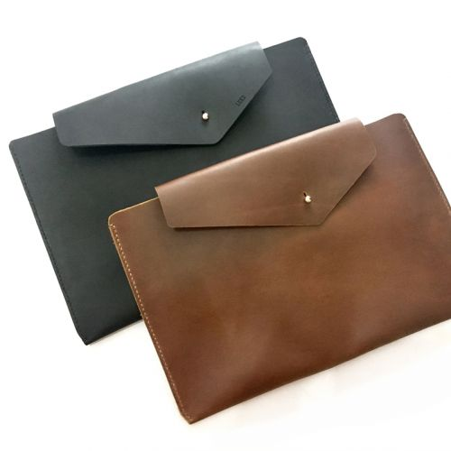 Personalised InStyle Leather Laptop Sleeve