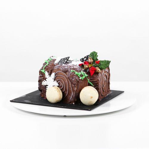 X'mas Yule Log Chocolate Cake