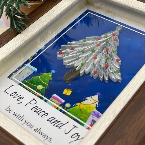 Mini Christmas Frame Series :  Silver Tree