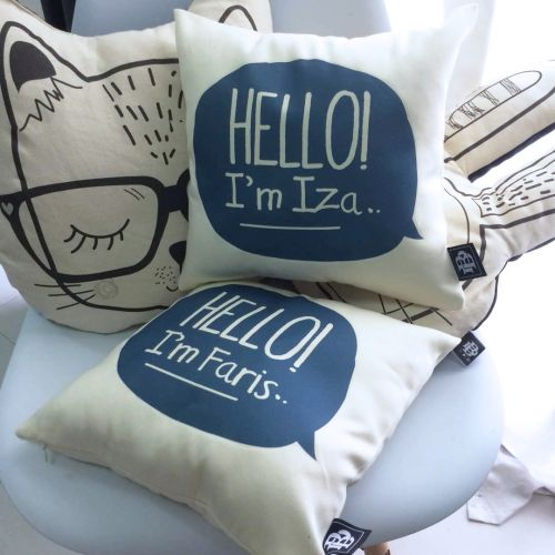Personalized Hello! Square Pillow