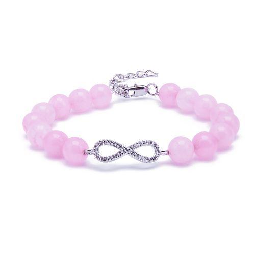 Kelvin Gems Infinity Rose Quartz Bracelet