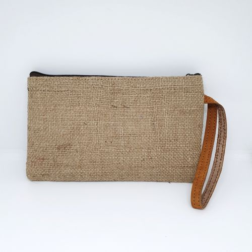 EcoQuote Handmade Jute Handy Pouch Eco-Freindly, Sustainable & Great for Vegan