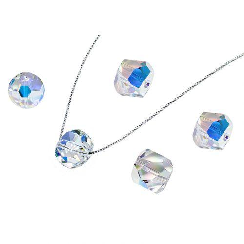 Glam Disco Ball Pendant Necklace