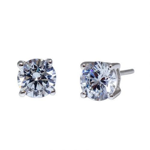 Premium 4 Prong Solitaire Stud Earrings