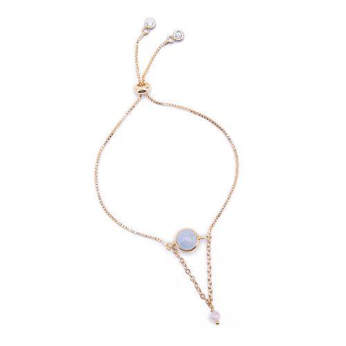 Kelvin Gems La Luna Aquamarine Adjustable Bracelet