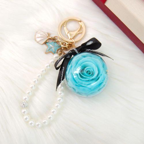 Preserved Flower Key/Bag Charm