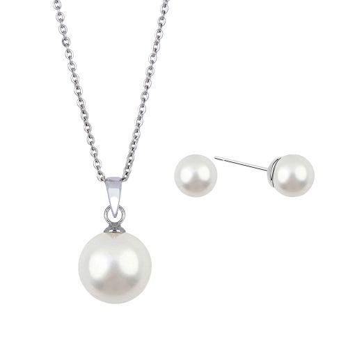 Kelvin Gems Lydia Swarovski Crystal Pearl Gift Set