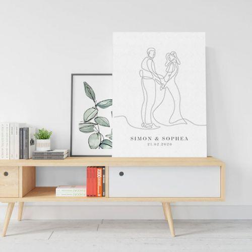Wedding / Graduation Canvas Sketch (Custom)