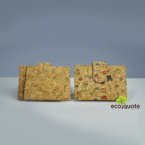 EcoQuote Mini Wallet Handmade Eco Friendly & Sustainable Cork Material Great for Vegan