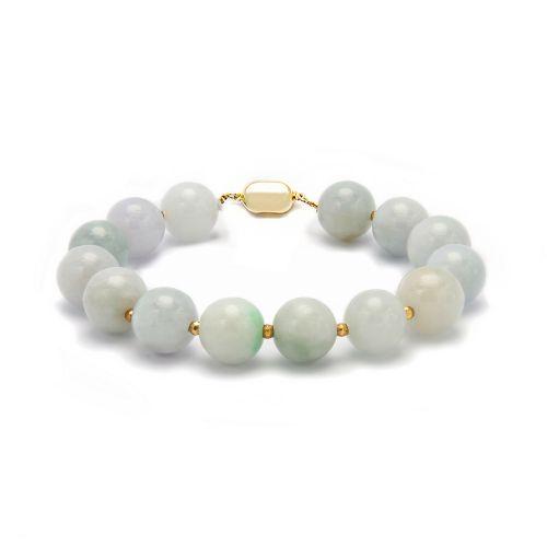 Kelvin Gems Natural Jadeite Round Bracelet 10mm