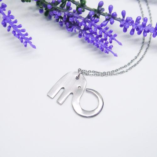 Handmade Fork Elephant Necklace