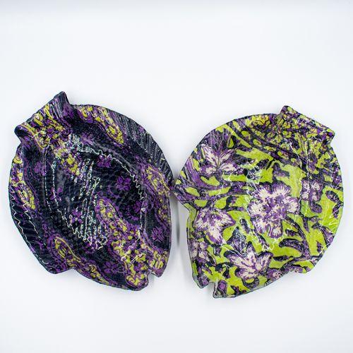 Batik Fish Glass Plates