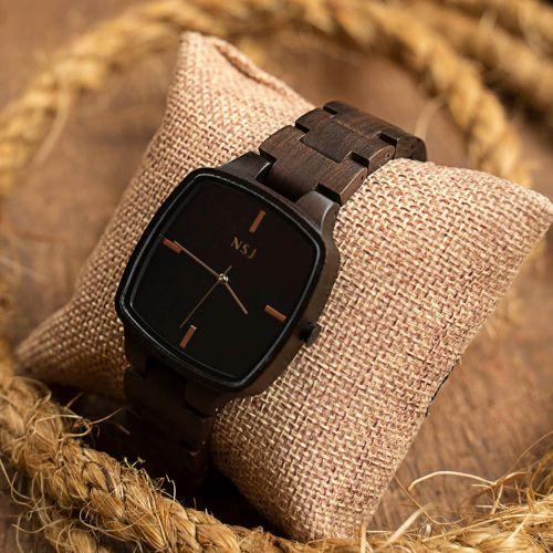 Personalized Wooden Watch - Joven Ebony  (1 year warranty )