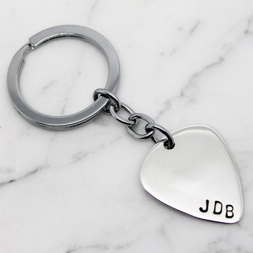 Personalised  Guitar Pick KeyChain - Free Shipping