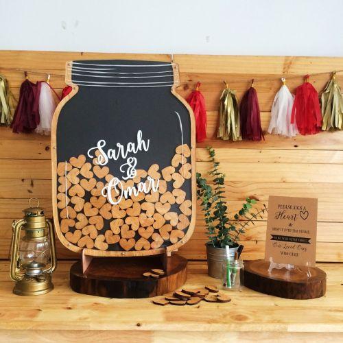 Personalized - Mason Jar Wedding Guestbook - Big
