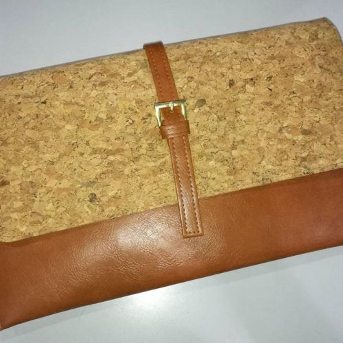 EcoQuote Stylish Sling Clutch Folder Handmade Eco-Friendly & Sustainable Cork Material Great For Vegan