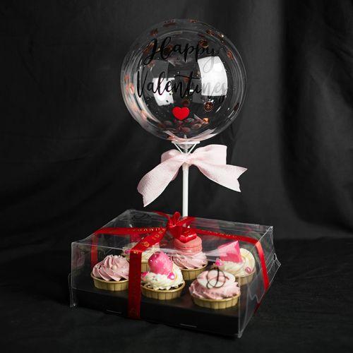 Pink Kisses Cupcake Gift Set (Valentine's 2021)