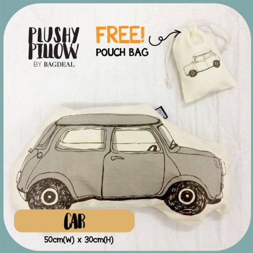 Mini Car Plushy Pillow