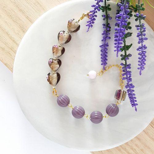 Lavender Rose Garden Bracelet