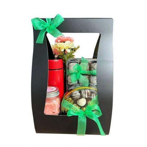 Classic Hamper Set: 2 Boxes Biskut Raya + Custom Name Thermos + Gift for Her/Him