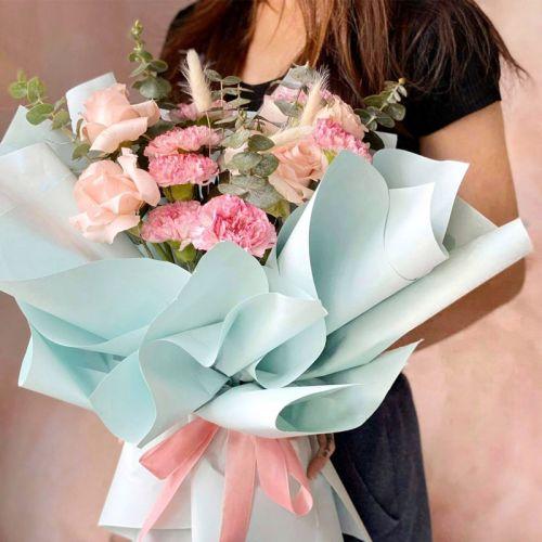 Sweet Pastel Carnation Flower Bouquet