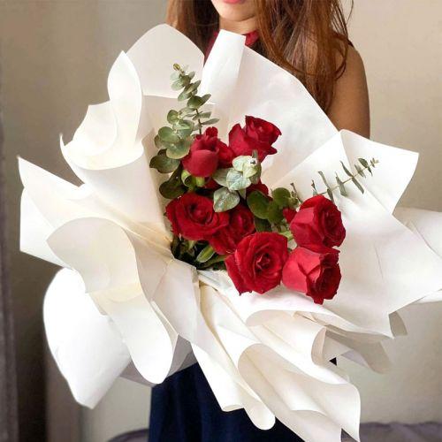 Effortless Red Roses Flower Bouquet
