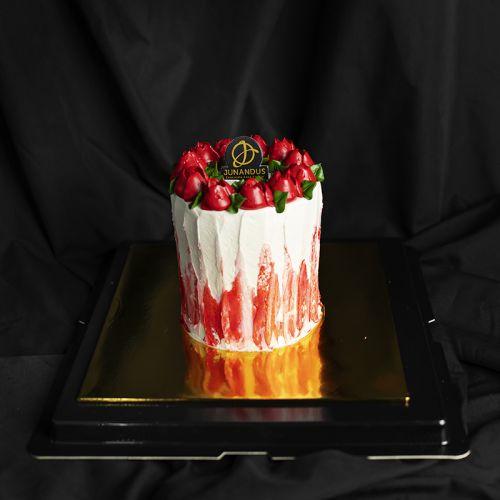 Red Roses Valentine's Cake (Valentine's 2021)