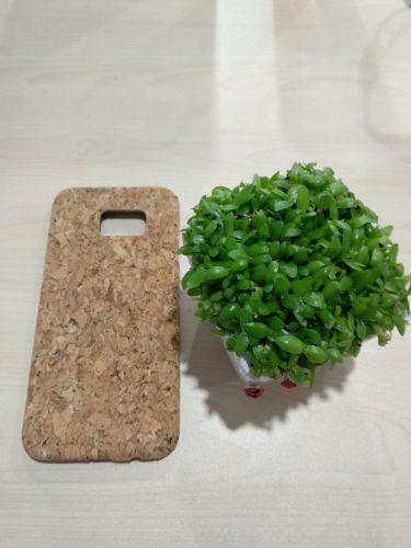 EcoQuote Samsung Galaxy S7 Edge Handmade Phone Case Hard PC Cork Finishing Vegan