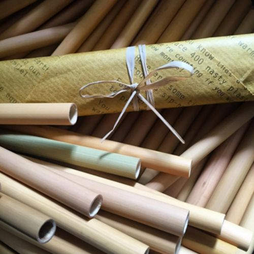EcoQuote Handmade Bamboo Big Straws Eco Friendly, Reusable & Sustainable ~ An End to Plastic