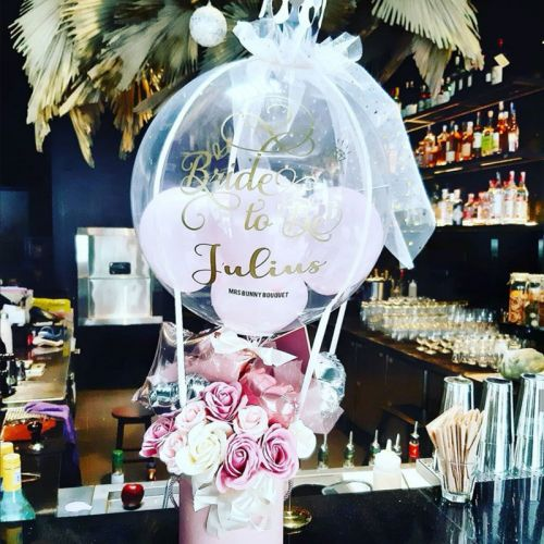 Bride to be hot air balloon flower box