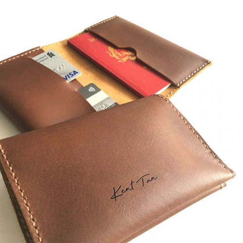Personalised Genuine Leather Passport Holder