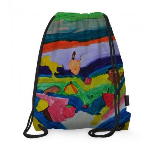 Art-Inspired Drawstring Bag: Beach Play