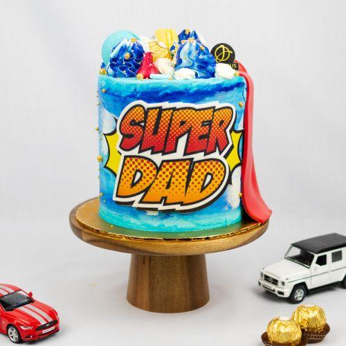 SuperHero Papa Cake - Father's Day 2021