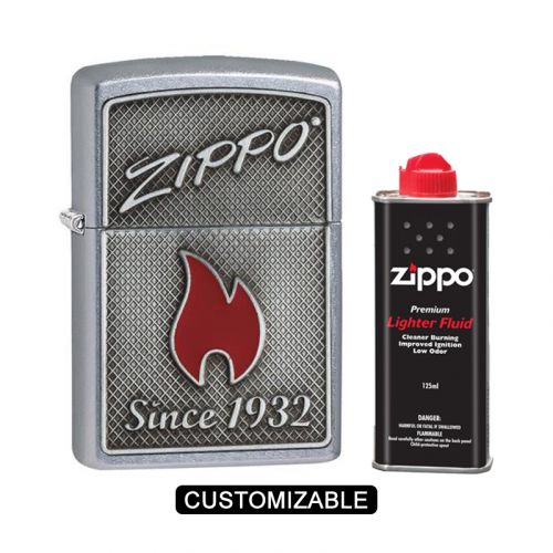 """Zippo 29650 Red Flame with """"Since 1932"""" Lighter"""