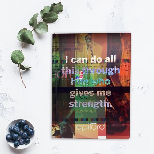 Eco-friendly Holographic Sketchbooks - Strength