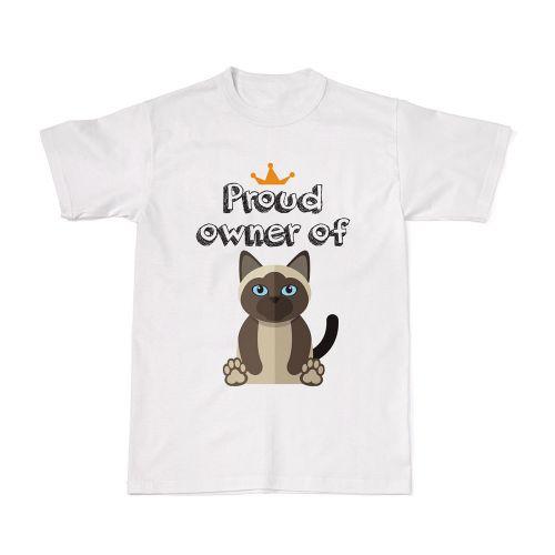 Proud Cat Owners Tee - Siamese Cat