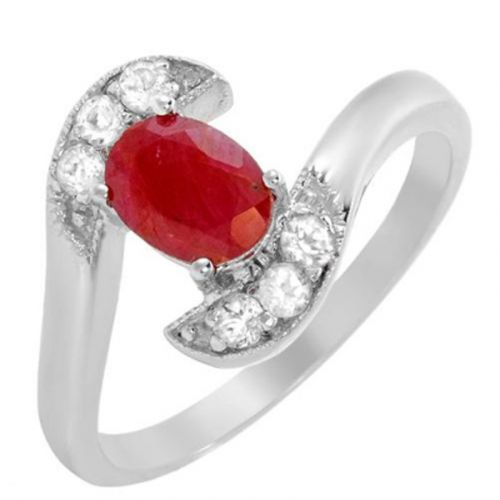 RUBY AND TOPAZ GEMSTONE RING