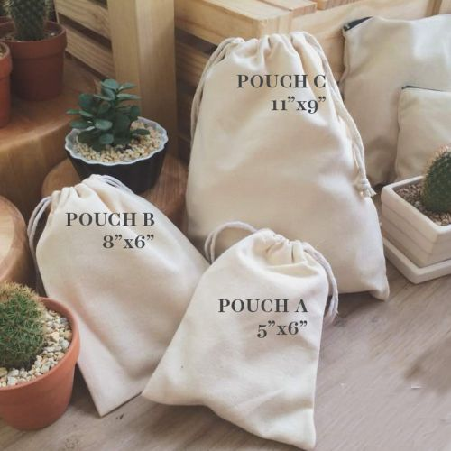 Personalised name Cute Cactus Canvas Pouchbag