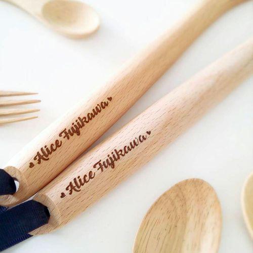 Personalised Cooking Utensils (Spoon & Fork)
