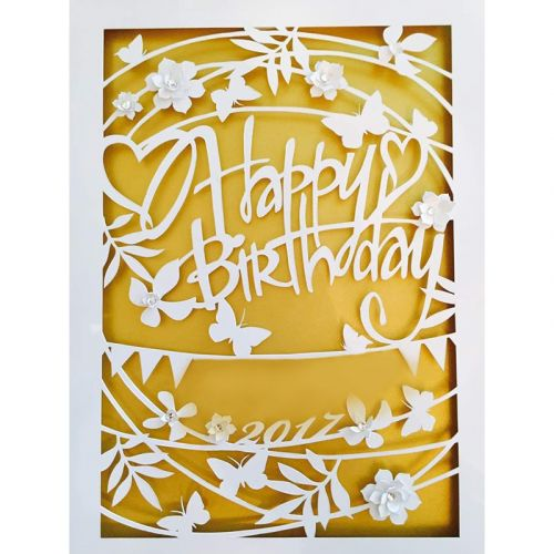 Personalised Birthday Papercut Series