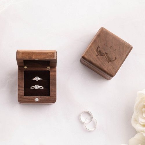 Personalized Luxury Wooden Ring Box