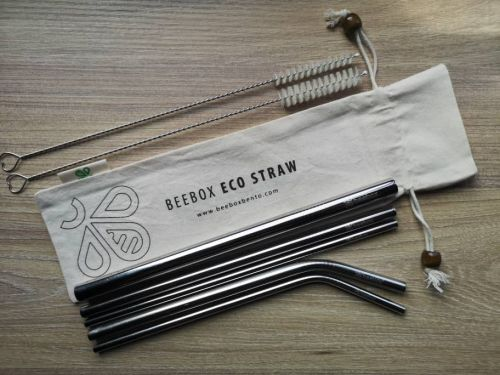 Beebox Eco Straw COMPLETE SET : SET OF 5