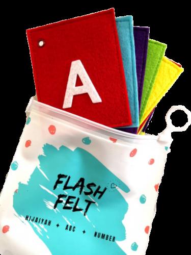 ABC Uppercase Alphabets ABC Flash Felt Card Soft Toys