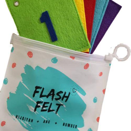 Numbers English 1-10 Flash Card Felt Soft Toys