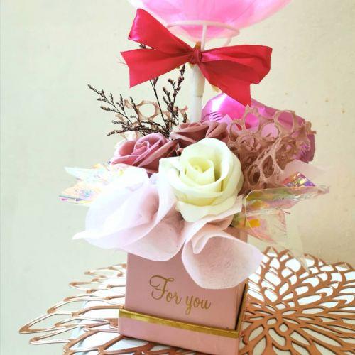 Mini Soap rose flower box