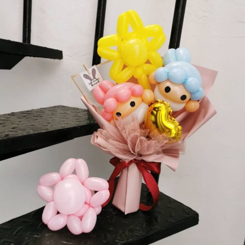 Chinese Valentines day ❤️ twisting balloon bouquet