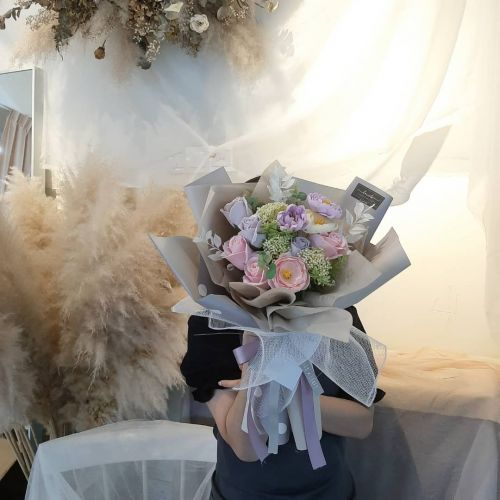 Valentine's Day 2021-Soapy Purple Bouquet