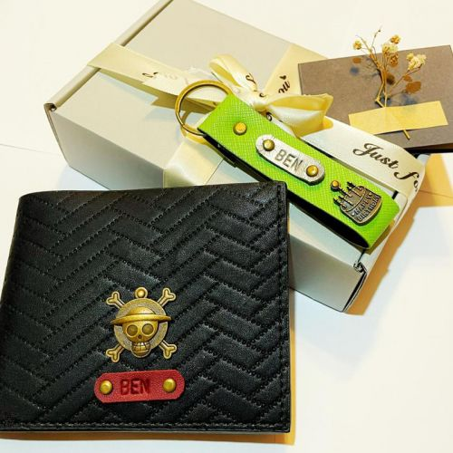 Gift For Him Set (Wallet & Keychain)