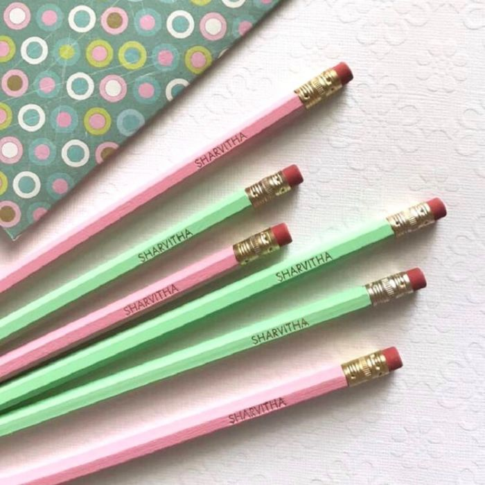 Personalized Pencils Hexagon